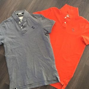 Two Abercrombie & Fitch Polo Shirts